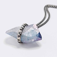 Jill Urwin Tanzine Aura Pyramid Necklace in Silver - Urban Outfitters