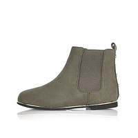 Girls mini grey Chelsea boots
