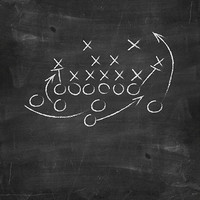 Sports Chalkboard Printed Photography Backdrop / 1472