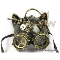 Steampunk Catwoman Mask With Goggles