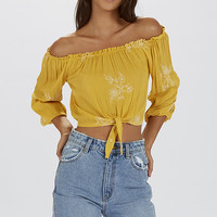 Grace By Faith Crop - Yellow