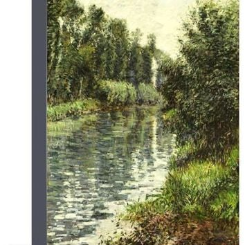 A Small Branch of the Seine, Argenteuil, 1888-90 Giclee Print by Gustave Caillebotte at Art.com