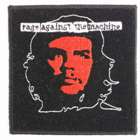 "RAGE AGAINST The MACHINE Che Sew On Embroidered Patch 3""/7.6cm"