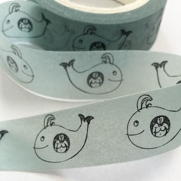 Sticky Washi Tape | Japan Adhesive Tape | Decorative Masking Tape | Scrapbooking Tools Favor Stationery | Whale 10m K11