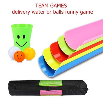 Outdoor Games Sport Toys 30cm Delivery Bars with bag Team Working Cooperation Parents Children Party Games 4 Ball and 2 Cup NOW