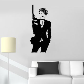 Vinyl Wall Decal Killer Secret Agent James Bond Woman Gangster Stickers Unique Gift (ig3282)