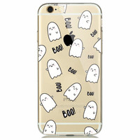 Little Boo Ghost Soft Case for iPhone 5 5s 6 6s Fun