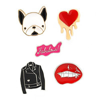 #sodamncute Enamel Brooch Pin Collection (pup, jacket, etc.)