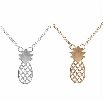 Gift New Arrival Jewelry Pineapple Shiny Stylish Lovely Silver Hot Sale Accessory Necklace [6420305028]