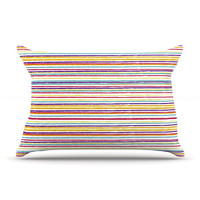"Nika Martinez ""Summer Stripes"" Abstract Pillow Case"
