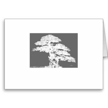 elegant Bonsai tree art blank card Greeting Card