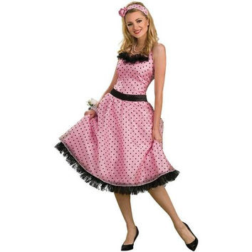 Women's Costume: Polka Dot Prom | Medium