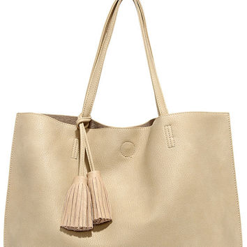 London Calling Beige Tote