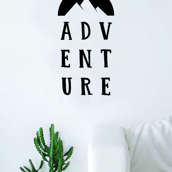 ADVENTURE v2 Quote Wall Decal Sticker Bedroom Living Room Art Vinyl Beautiful Inspirational Motivational Travel Adventure Teen Wanderlust