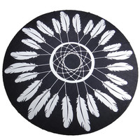 Feather Ethnic Towel Beach Printed Sunbath Towel Beach Yoga Mat