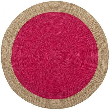 Safavieh Natural Fiber NF801C Fuchsia / Natural Rug