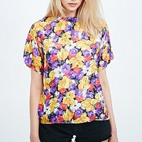 Urban Renewal Vintage Remnants Tee Blouse in Floral Print - Urban Outfitters