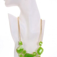 Lime Gold Gemstone Accessories Set