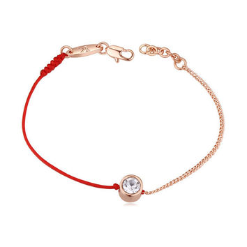 bracelets & bangles Austrian Crystal jewelry thin red thread string rope Charm Bracelets for women Fashion New summer 117884