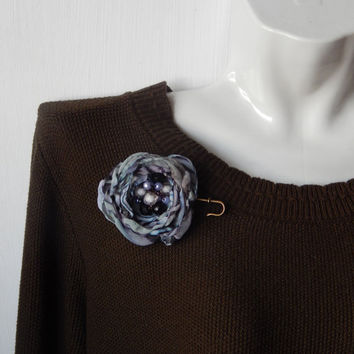 Silk flower. Brooch Silk. Brooch handmade