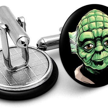 Yoda Portrait Cufflinks