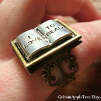 Book Lover's Locket Ring by GrimmAppleTree on Etsy