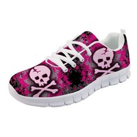 Flats Casual Shoes High Quality Skull Women's Sneakers Comfort Mesh Shoes