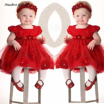 Cute Girls Dress Lace Dresses Flower Girls Shorts Toddler Baby Princess Pageant Lace Dresses Headband ,XL30