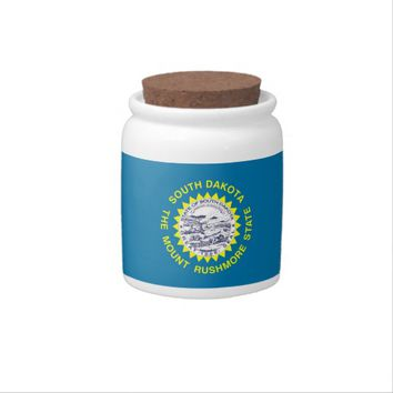South Dakota State Flag Candy Jar