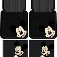 4pc Mickey Mouse Face Floor Mats Set