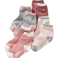Old Navy Patterned Sock 4 Pack For Baby