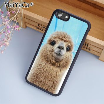 Alpaca Face Cute Phone Case Cover For iPhone 5s SE 6 6s 7 8 plus 10 X Samsung Galaxy S6 S7 S8 edge note 8