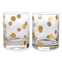 kate spade new york 'pearl place' double old-fashioned glasses (set of 2)