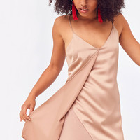 Six Crisp Days Tie-Back Slip Dress | Urban Outfitters