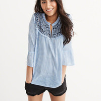 Womens Embroidered Blouse | Womens Tops | Abercrombie.com