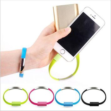 Bracelet Flat Wire 8 Pin USB Charger Cable Charging Data Cord