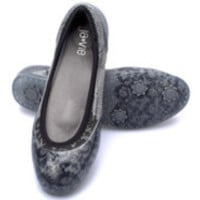 Ja-Vie™ Black Lace/Grey Flats