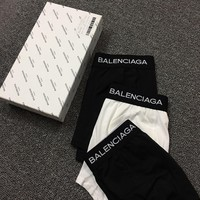 Balenciaga Fashion 3 Pairs of Men's Underwear Style #684