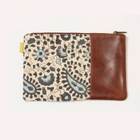 Paisley Leather Carryall