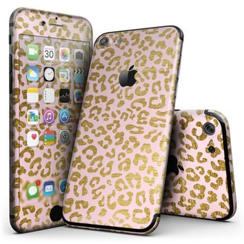 Pink Gold Flaked Animal v2 - 4-Piece Skin Kit for the iPhone 7 or 7 Plus