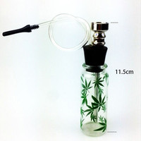 Great Quality Mini Glass Water Pipe - Weed Imprint