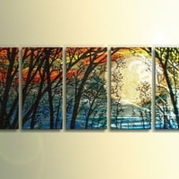 Magic Forest -  Modern Abstract Decor Metal Wall Art Panels by Donghua