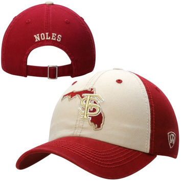 Florida State Seminoles Top of the World Statesman Two-Tone Adjustable Hat – Garnet