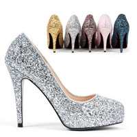 small size sparkly heels sexy and high