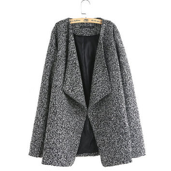 Women knitted autumn casual Blazer long sleeve turn down collar coats casaco feminine European work wear tops CT1127