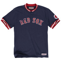Mitchell & Ness Boston Red Sox Navy Blue Game Ball Henley
