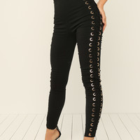 On The Side Leggings - Black