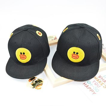 Kids Snapback Animal Character Cute Bear Duck Rabbit Embroidery Girls Boys 3-8Years Adjustable Children Baseball Caps