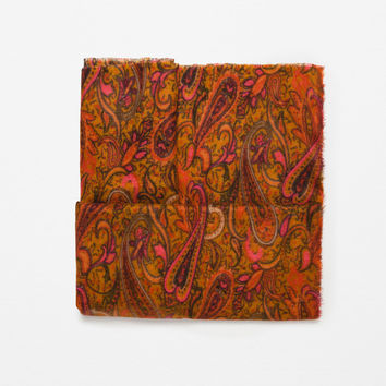 COLOURFUL SOFT PAISLEY PRINT SCARF