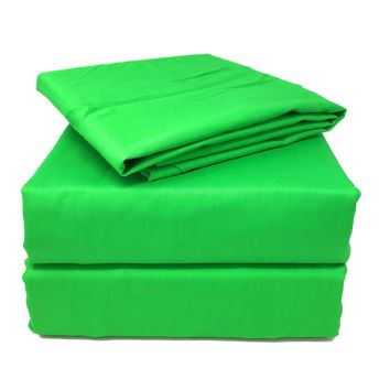 Tache 3-4 Piece Cotton Solid Lime Green Bed Sheet Set (TABS4PC-GG)